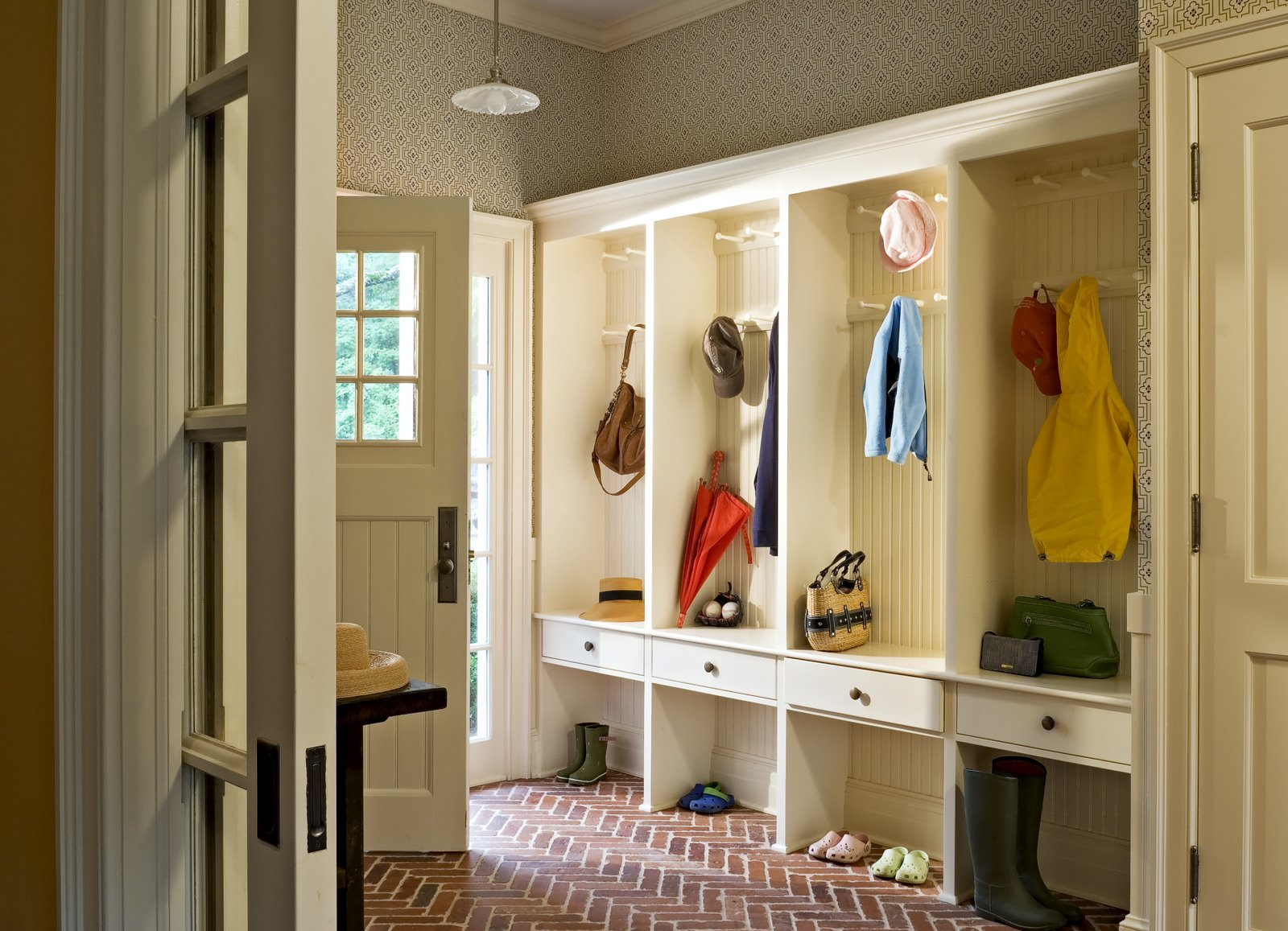 On the drawing board mud room for Mudroom locker design plans