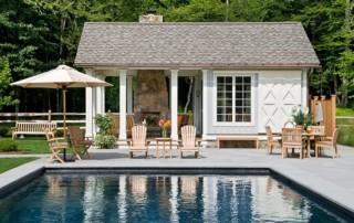 Pool Pavilion With Barn Door