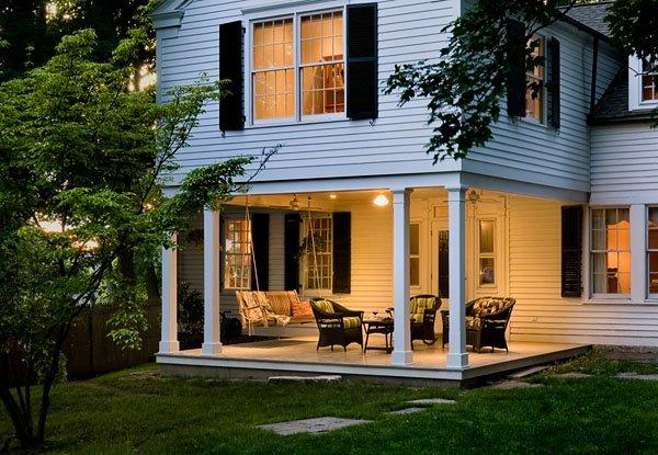 Porch Addition at Dusk