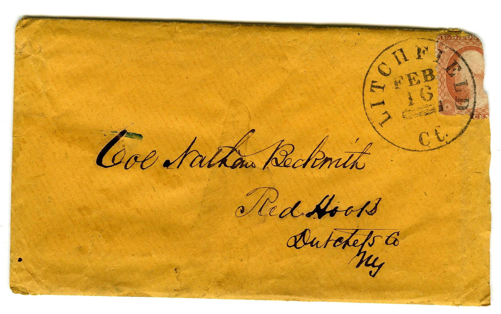 Envelope Sent in 1861