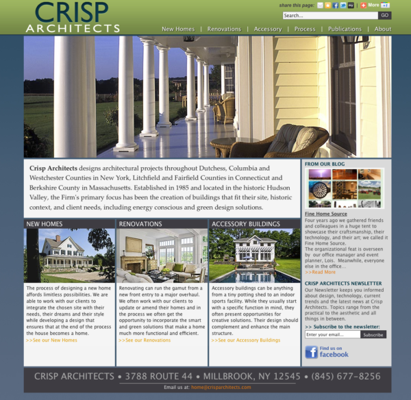 Front Page of Web Site
