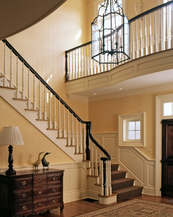 Beautiful Front Hall And Staircase: On The Drawing Board