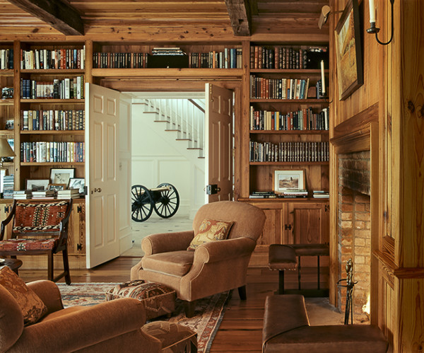 Reclaimed Beams, Flooring, and Bookcases From Resawn Beams