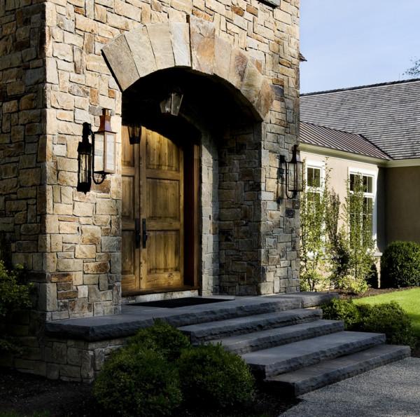 Recessed Door with Stone Surround