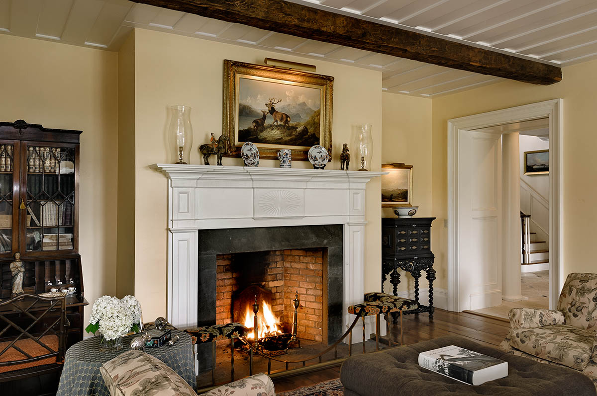 6 wood burning fireplaces revisited on the drawing board - Living room with fireplace ...