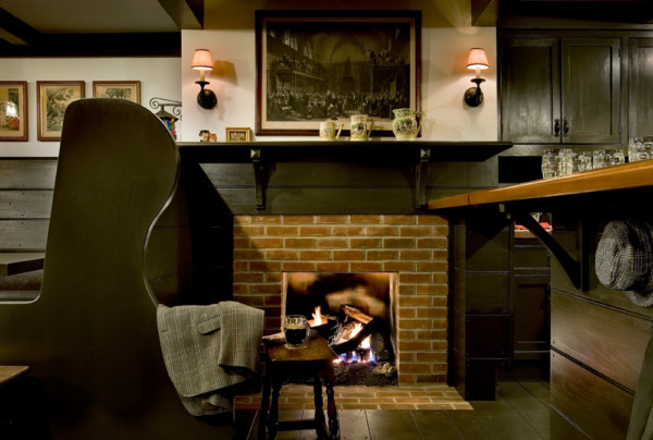 Basement Pub Fireplace