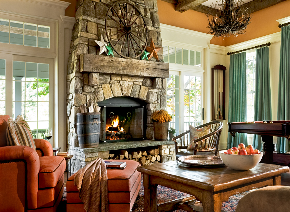 On the drawing board 6 wood burning fireplaces revisited for Family room design ideas with fireplace