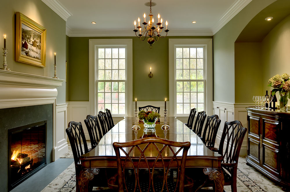 Attractive Green Dining Room