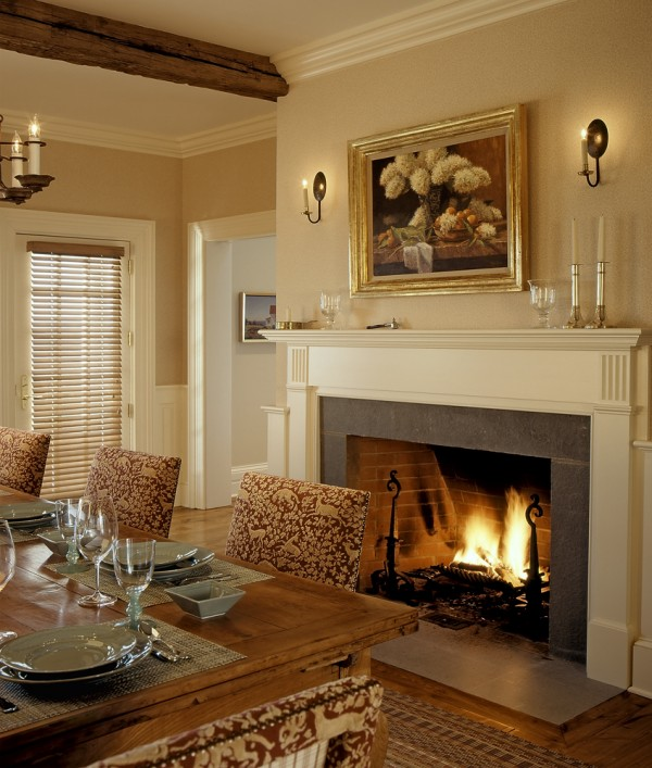 On the drawing board 5 formal dining rooms for Dining room fireplace ideas