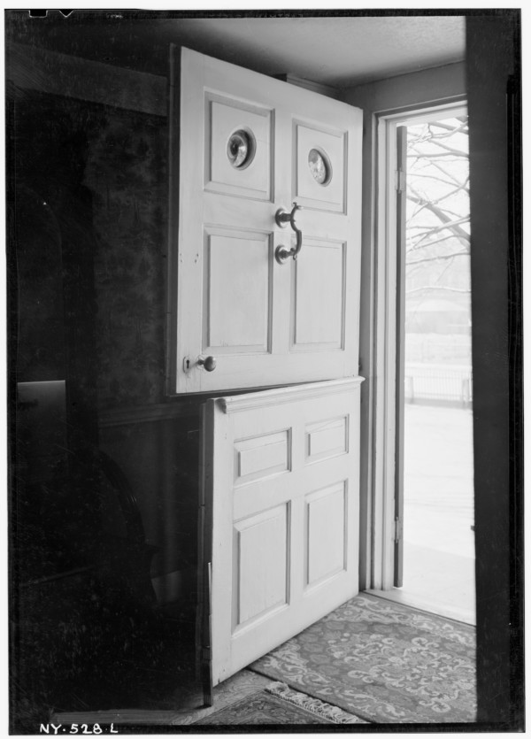 Period Dutch door from HABS collection