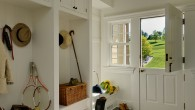 As far as we know, the Dutch door originated in the Netherlands during the 17th century and was very popular with the settlers of Dutch and English origin who colonized what is now the United States.  The door worked well to keep farm animals out...