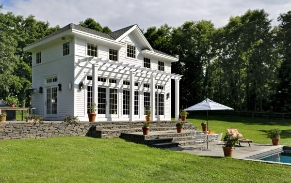 Pool House with Pergola