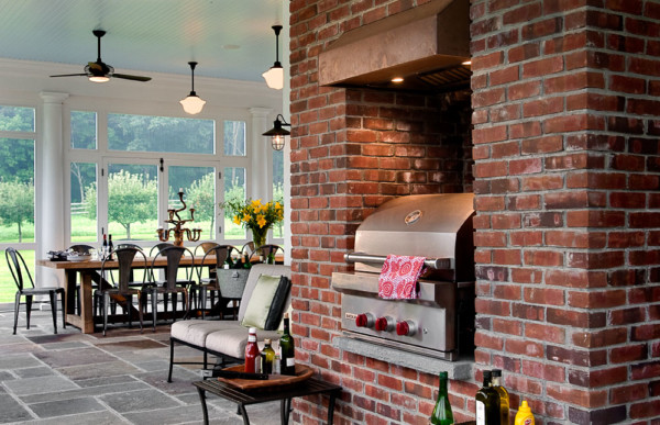Screened Porch With BBQ