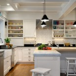 This isn't the first time I have written about white kitchens, but since we are asked to design kitchens with white cabinets so often, I thought they merited another review. First, to be perfectly accurate, the title of this article should be 10 Kitchens with...