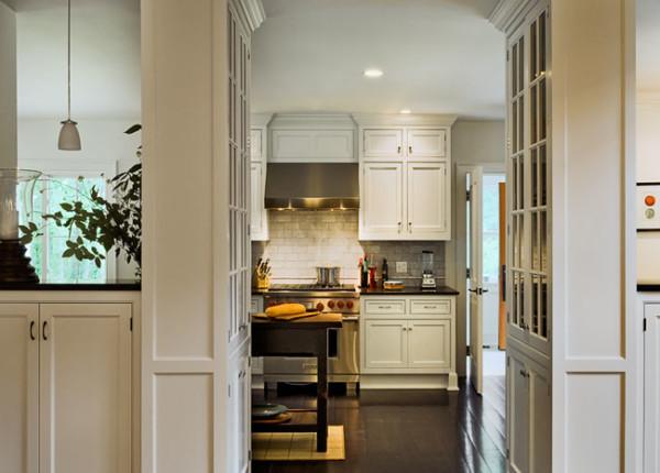Kitchen with Ebony Floor
