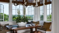 I have always loved sitting in a bright alcove eating breakfast and reading the paper.  These days the object in front of me is often an ipad or other electronics, but the wonderful feeling of a breakfast nook is always the same.  Of course bays...