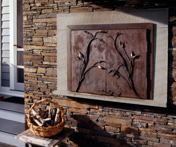 Stone Fireplace Crisp Architects: On The Drawing Board