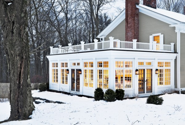 Sun Room in the Snow