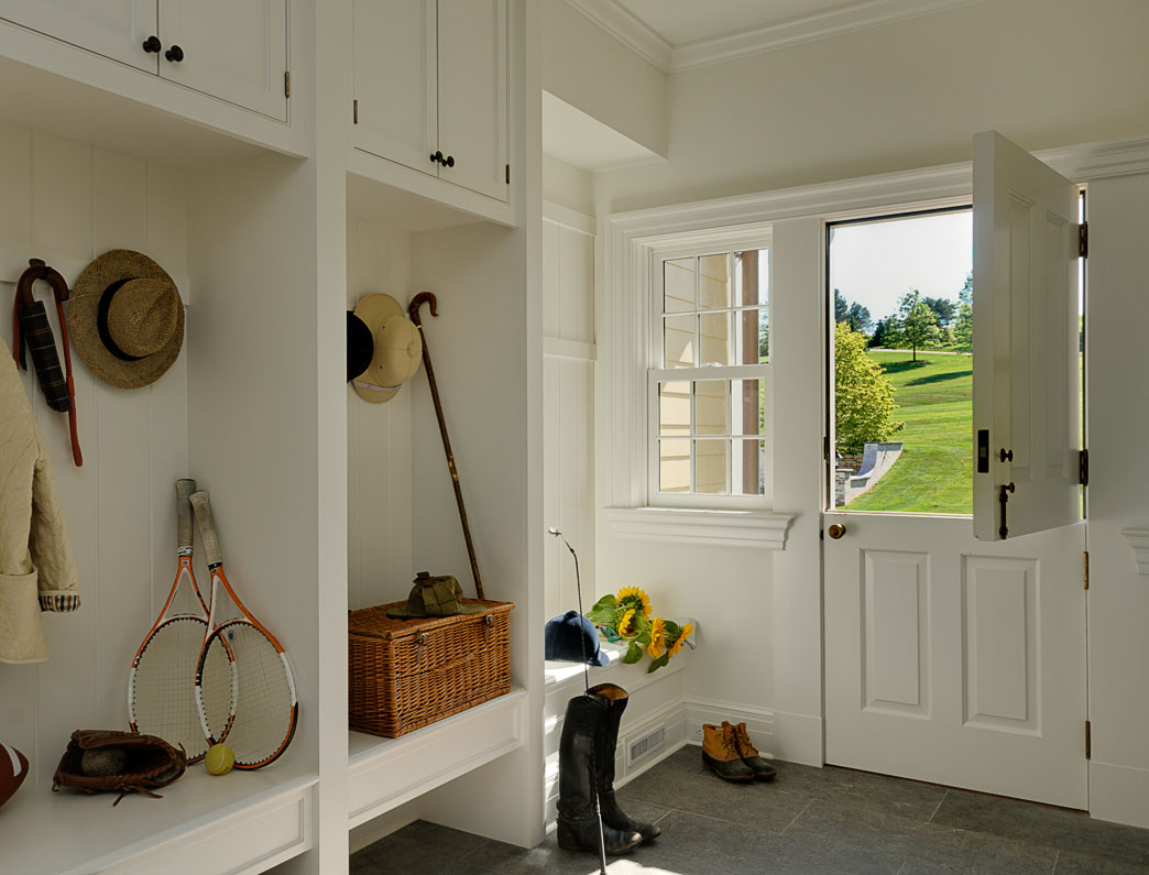 Mudroom with Dutch Door and Bench