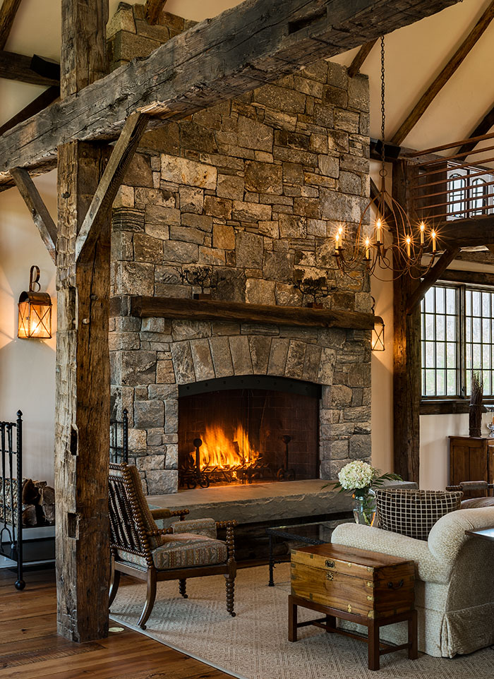 Stone barn addition featured recent project on the drawing board - Images of stone fireplaces ...