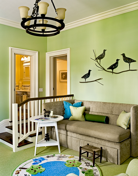 Child's Bedroom With Birds