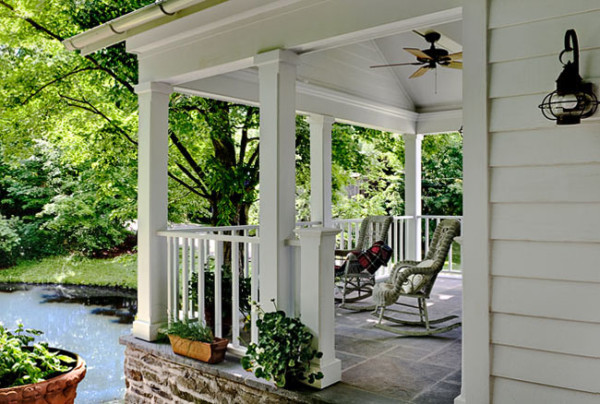 Side Porch with Pond View