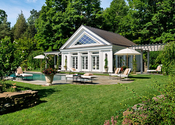 Greek Revival Pool House