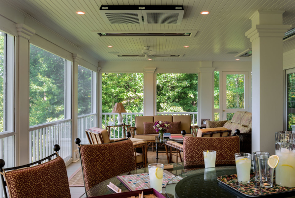 Living Porch with Automatic Screens