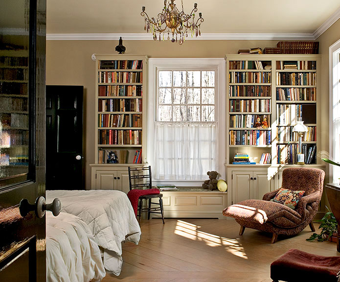 Window Seat In Bookcase