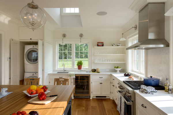 Kitchen with Hidden Laundry