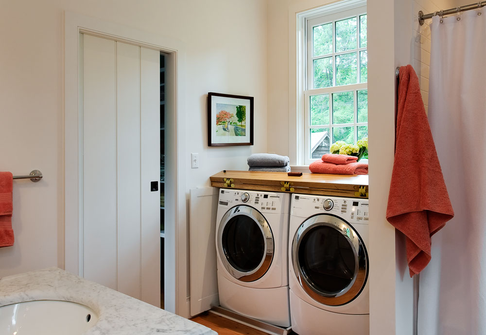 Laundry Room with Folding Counter and Doors