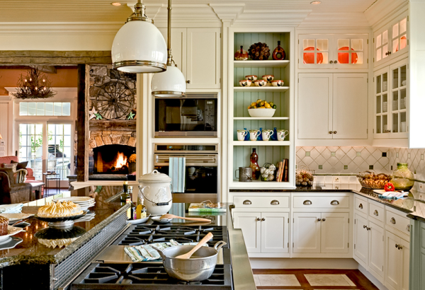 Painted Cabinet Interiors