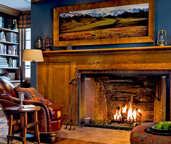 Art Above Fireplace