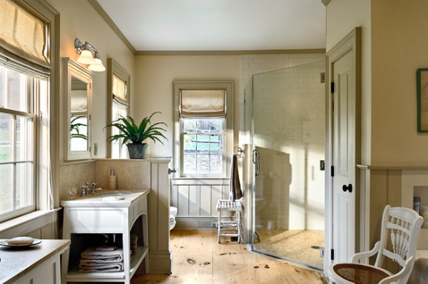 Bathroom With Wood Floor