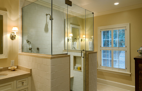 Shower Between Sinks