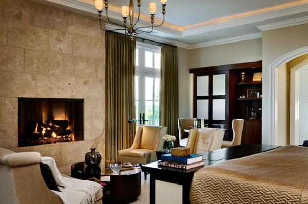 Modern Bedroom Fireplace