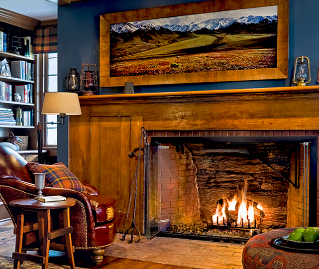 Restored Study Fireplace