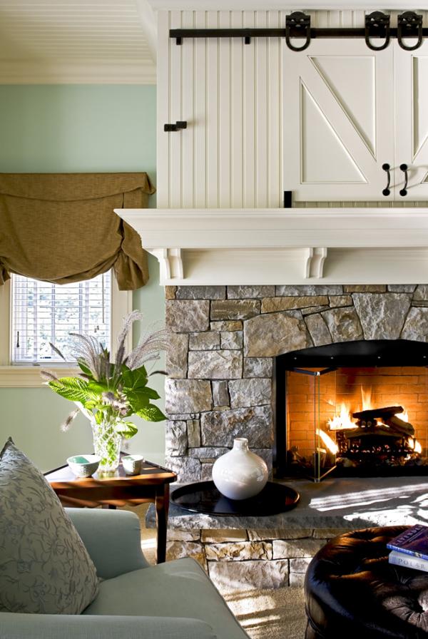Master bedroom fireplace detail LR