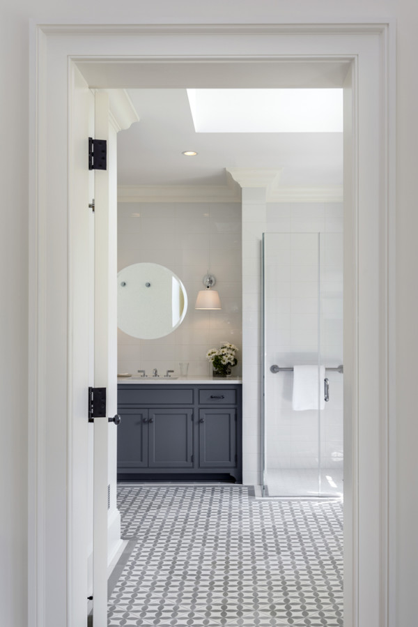 Grey Tile and Vanity