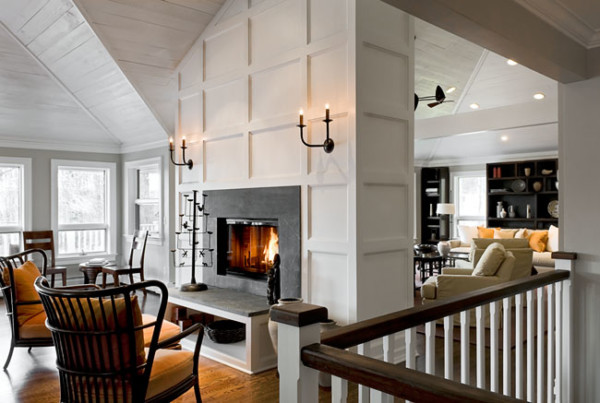 Grey Walls and Fireplace Surround