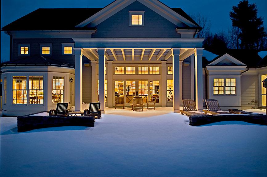 Berkshire Home at Dusk