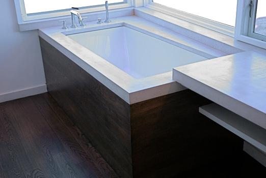 Concrete Tub Surround and Vanity