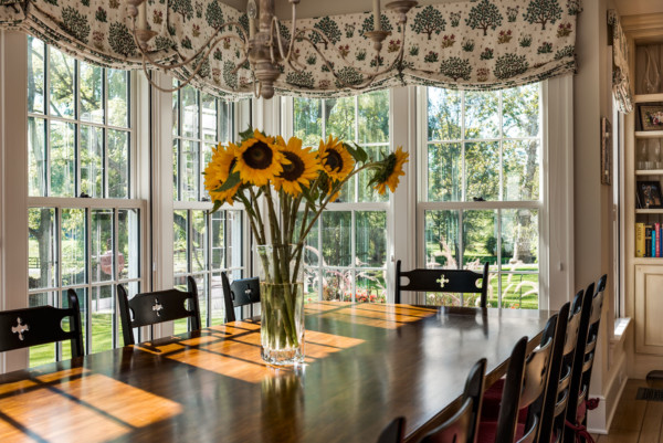 Breakfast Nook Corner Windows