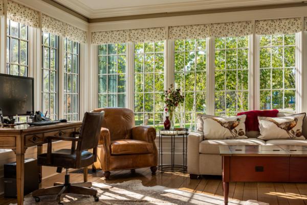 Home Office Corner Windows