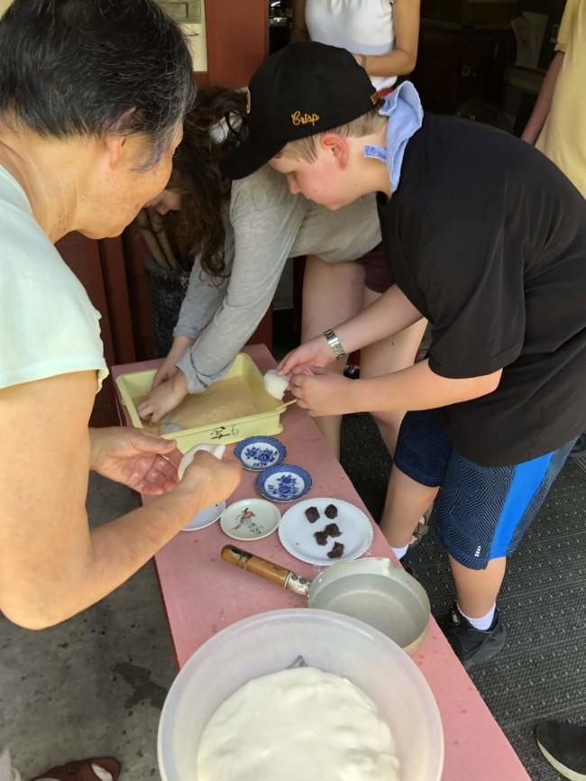 Kids Learning to Make Mochi