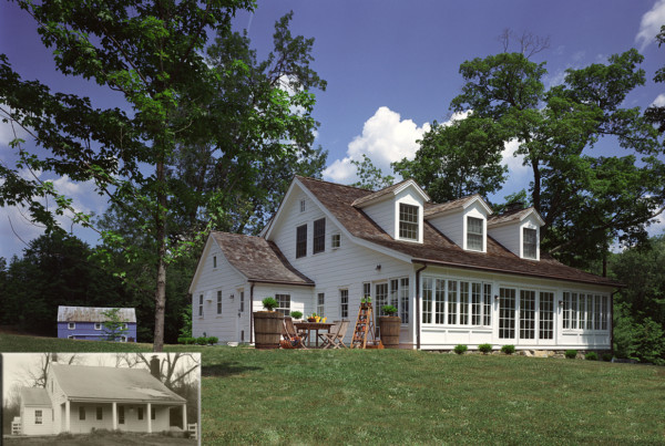 Old Home Renovation Including Glassed-in Porch and Dormers