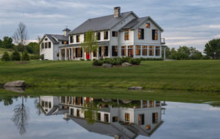Modern Farmhouse With Reflecting Pond