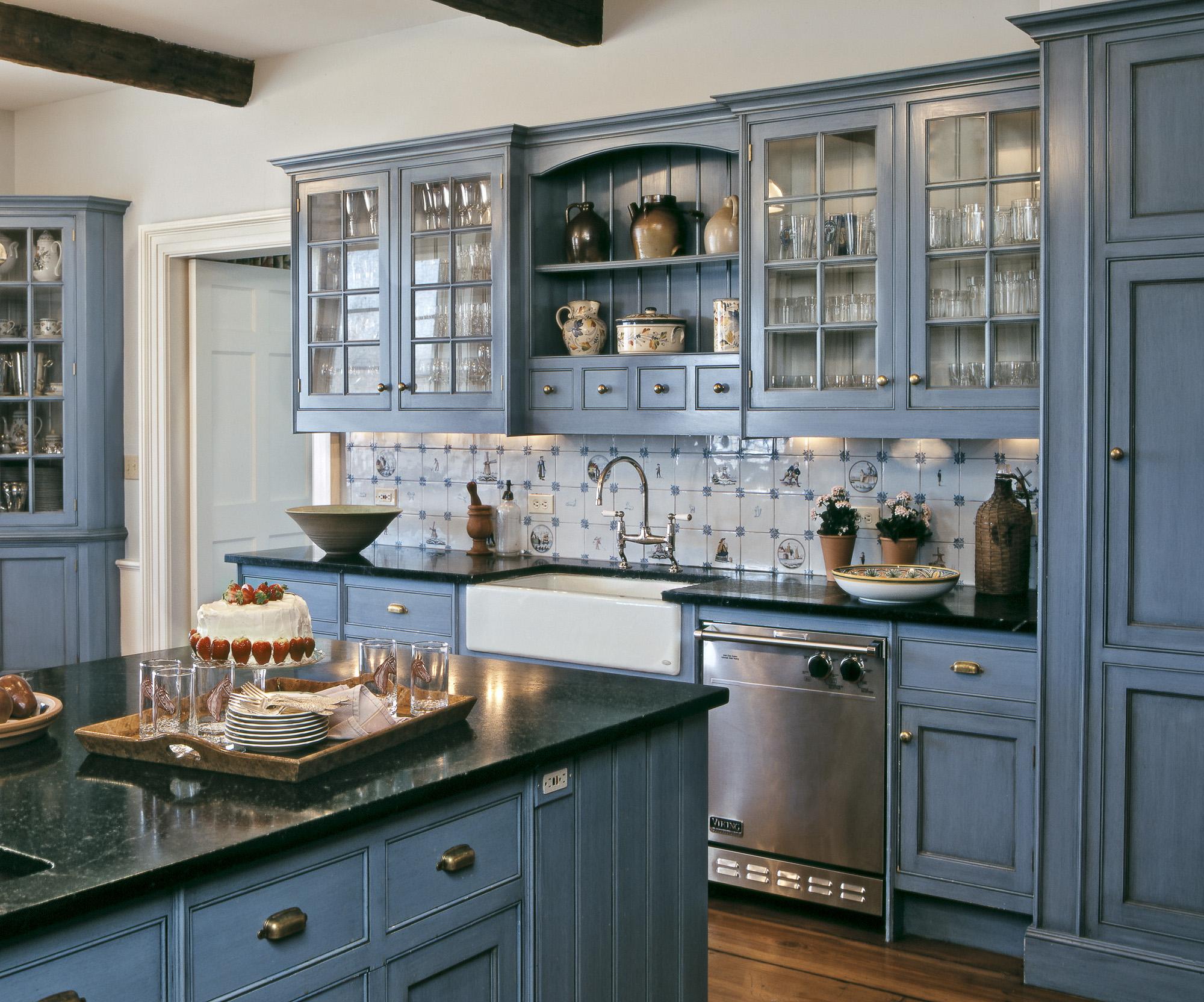 Kitchen With Glazed Finish