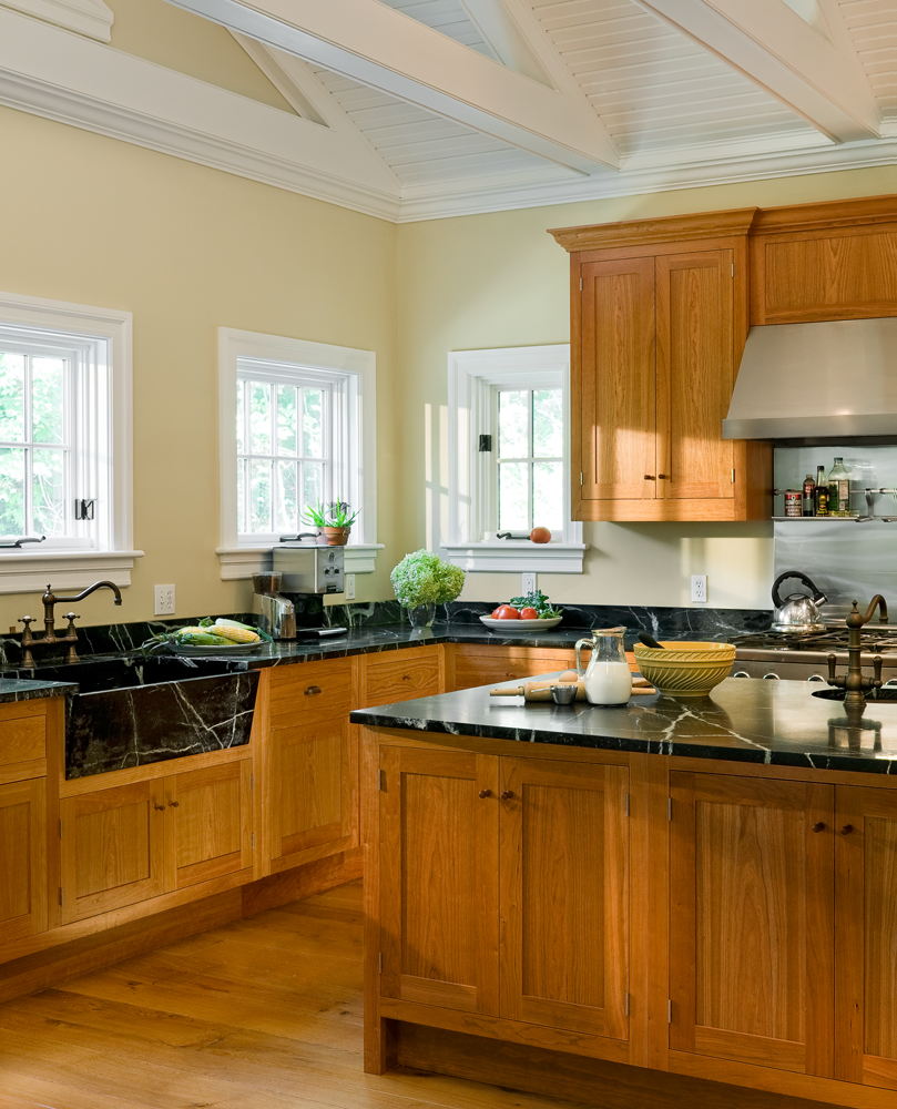 Cherry Cabinets with Contrasting Soapstone Counters
