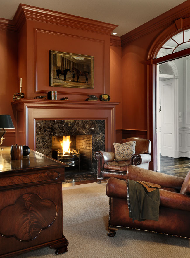 Home Office Fireplace